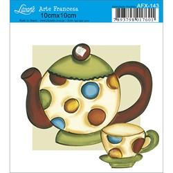 Papel para Arte Francesa Quadrado Litoarte AFX-143 Bule e Xícara