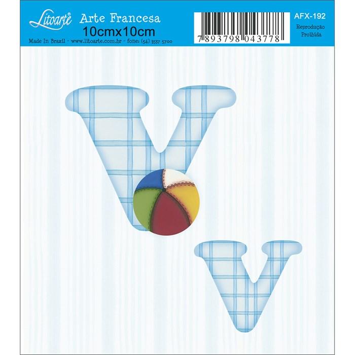 Papel para Arte Francesa Quadrado Litoarte AFX-192 Letras