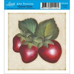 Papel para Arte Francesa Quadrado Litoarte AFX-214 Morango