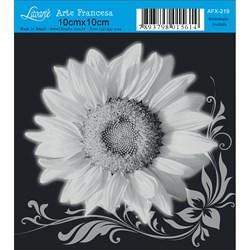 Papel para Arte Francesa Quadrado Litoarte AFX-219 Girassol