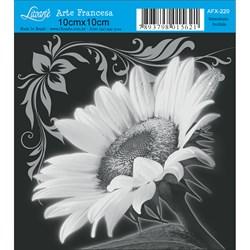Papel para Arte Francesa Quadrado Litoarte AFX-220 Girassol Perfil