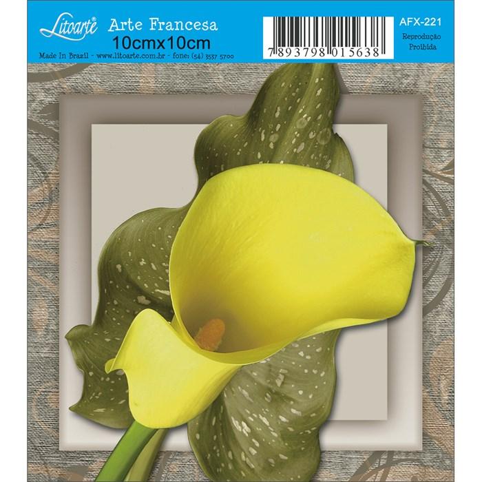 Papel para Arte Francesa Quadrado Litoarte AFX-221 Copo de Leite I