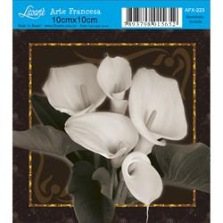 Papel para Arte Francesa Quadrado Litoarte AFX-223 Copo de Leite III