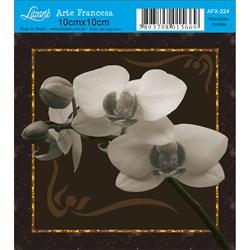 Papel para Arte Francesa Quadrado Litoarte AFX-224 Orquídea