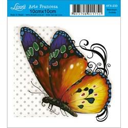 Papel para Arte Francesa Quadrado Litoarte AFX-233 Borboleta