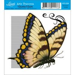Papel para Arte Francesa Quadrado Litoarte AFX-234 Borboleta