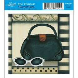 Papel para Arte Francesa Quadrado Litoarte AFX-238 Óculos e Bolsa