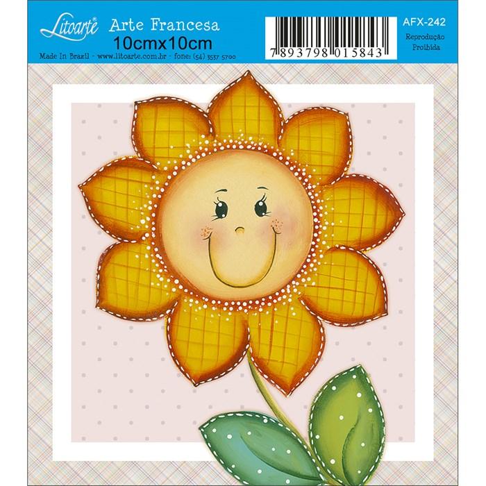 Papel para Arte Francesa Quadrado Litoarte AFX-242 Flor Contente Am.