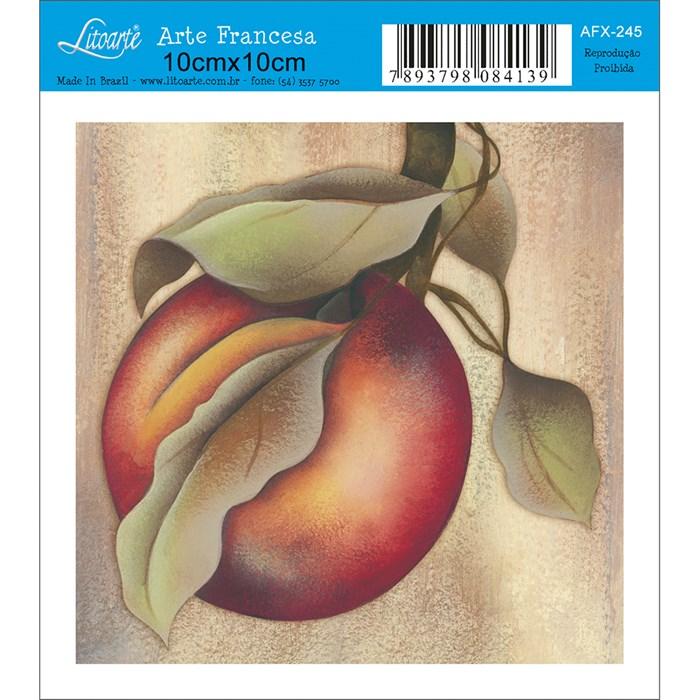 Papel para Arte Francesa Quadrado Litoarte AFX-245 Pessego I