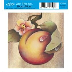 Papel para Arte Francesa Quadrado Litoarte AFX-246 Pessego II