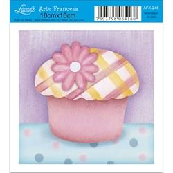 Papel para Arte Francesa Quadrado Litoarte AFX-248 Cupcake II