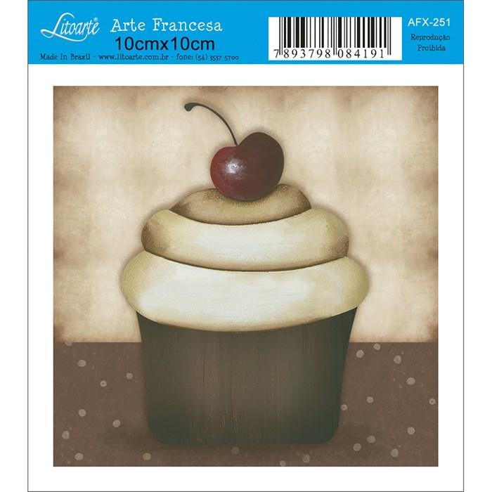 Papel para Arte Francesa Quadrado Litoarte AFX-251 Cupcake V