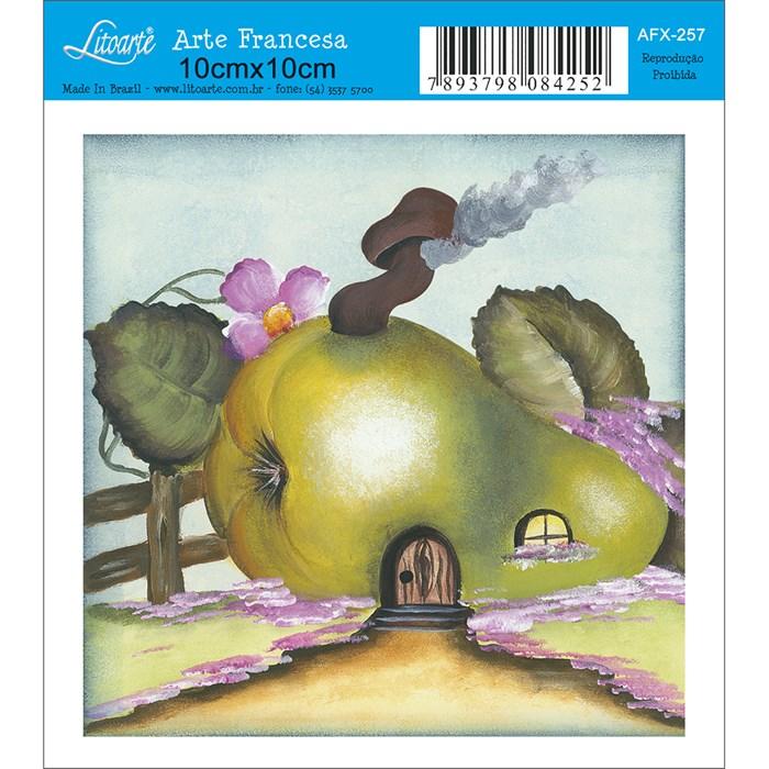 Papel para Arte Francesa Quadrado Litoarte AFX-257 Pera