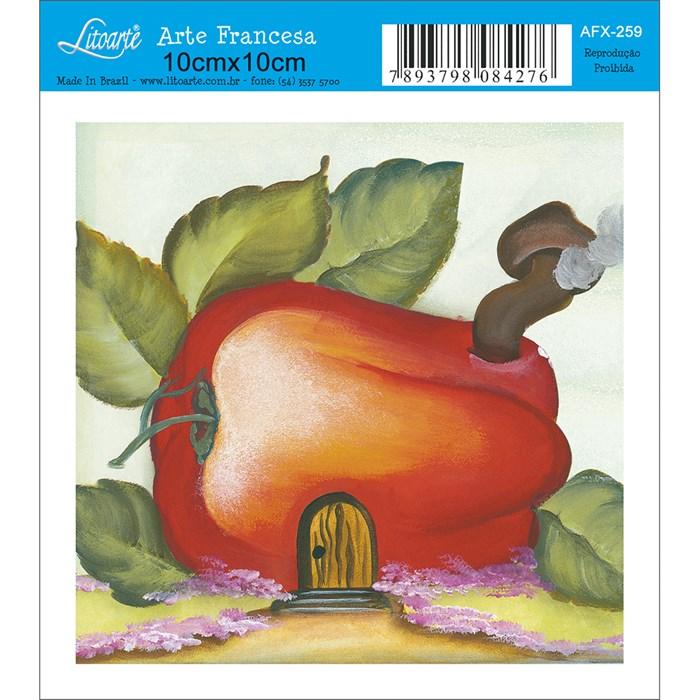 Papel para Arte Francesa Quadrado Litoarte AFX-259 Caju