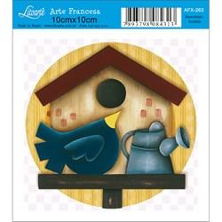 Papel para Arte Francesa Quadrado Litoarte AFX-263 Ninho Country