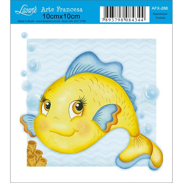 Papel para Arte Francesa Quadrado Litoarte AFX-266 Peixe
