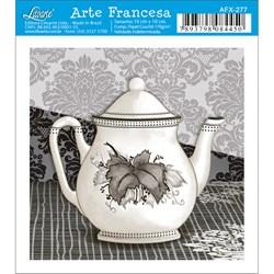 Papel para Arte Francesa Quadrado Litoarte AFX-277 Bule