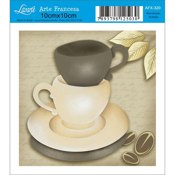 Papel para Arte Francesa Quadrado Litoarte AFX-320 Xícaras de Café