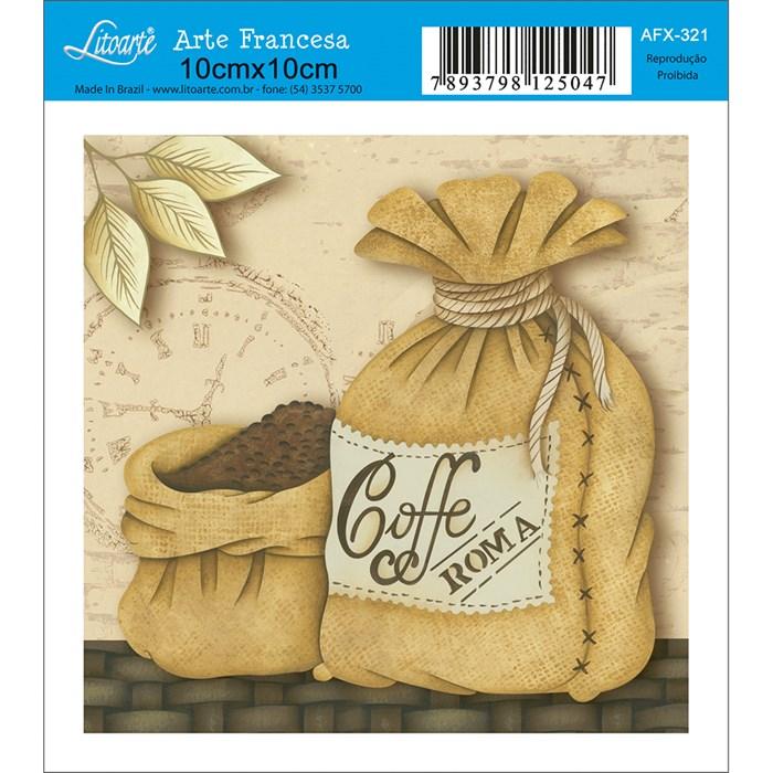 Papel para Arte Francesa Quadrado Litoarte AFX-321 Café Roma