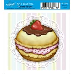 Papel para Arte Francesa Quadrado Litoarte AFX-322 CupCake