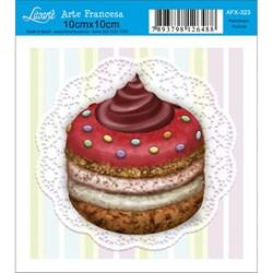 Papel para Arte Francesa Quadrado Litoarte AFX-323 CupCake