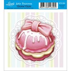Papel para Arte Francesa Quadrado Litoarte AFX-324 CupCake