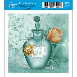 Papel para Arte Francesa Quadrado Litoarte AFX-377 Perfume Love