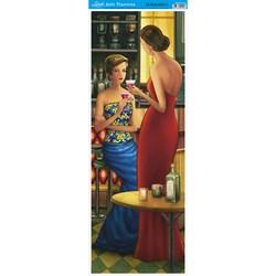 Papel para Arte Francesa Vertical Litoarte AFVE-014 Damas Bar III