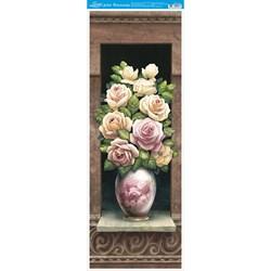 Papel para Arte Francesa Vertical Litoarte AFVE-027 Vaso Rosas I