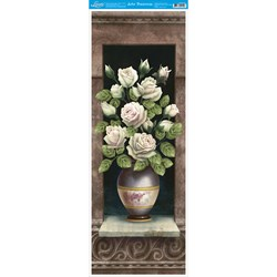 Papel para Arte Francesa Vertical Litoarte AFVE-028 Vaso Rosas II