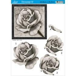 Papel para Decoupage 3D Litoarte D3D-005 Rosas