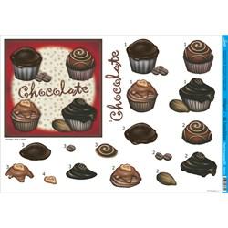 Papel para Decoupage 3D Litoarte PD3-012 Chocolate