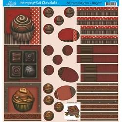 Papel para Decoupage Kit Chocolate Litoarte DS-012 Chocolates I