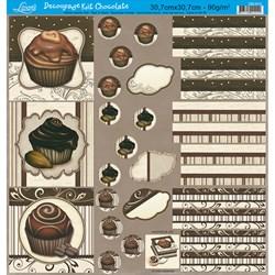 Papel para Decoupage Kit Chocolate Litoarte DS-013 Chocolates II
