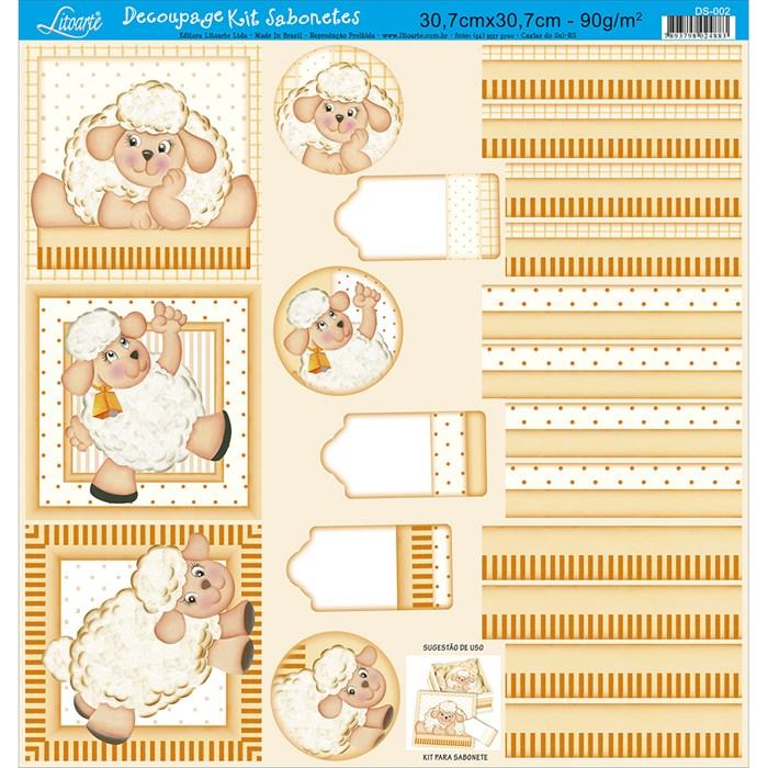 Papel para Decoupage Kit Lembranças Litoarte DS-002 Ovelha