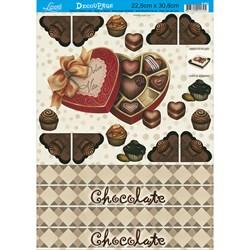 Papel para Decoupage Litoarte D-001 Chocolate