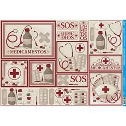 Papel para Decoupage Litoarte PD-059 Farmácia