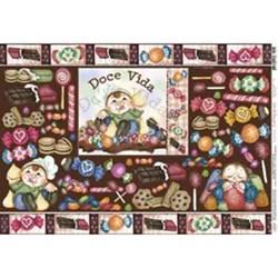 Papel para Decoupage Litoarte PD-273 Chocolate e Balas