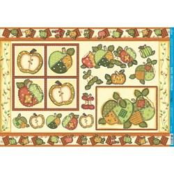 Papel para Decoupage Litoarte PD-274 Frutas - Maçãs Verdes