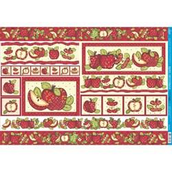 Papel para Decoupage Litoarte PD-275 Frutas - Maçãs Vermelhas