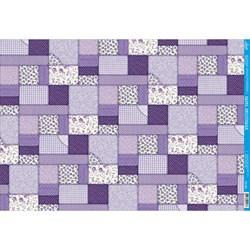 Papel para Decoupage Litoarte PD-390 Patch Lilás
