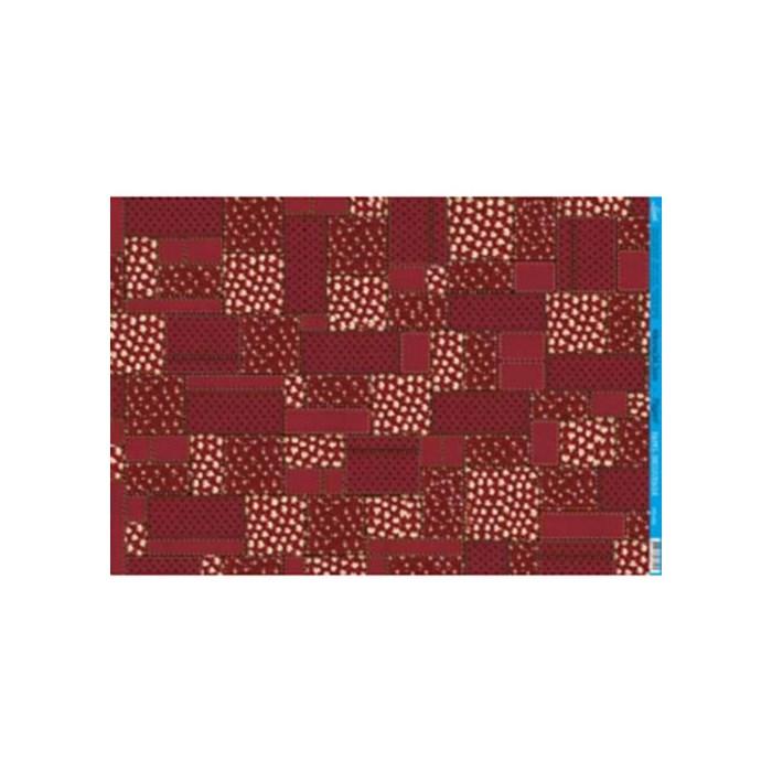 Papel para Decoupage Litoarte PD-432B Patchwork Vermelho