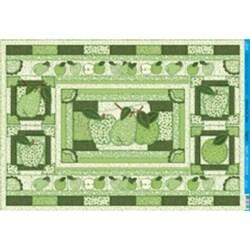 Papel para Decoupage Litoarte PD-433 Frutas Patch Verde