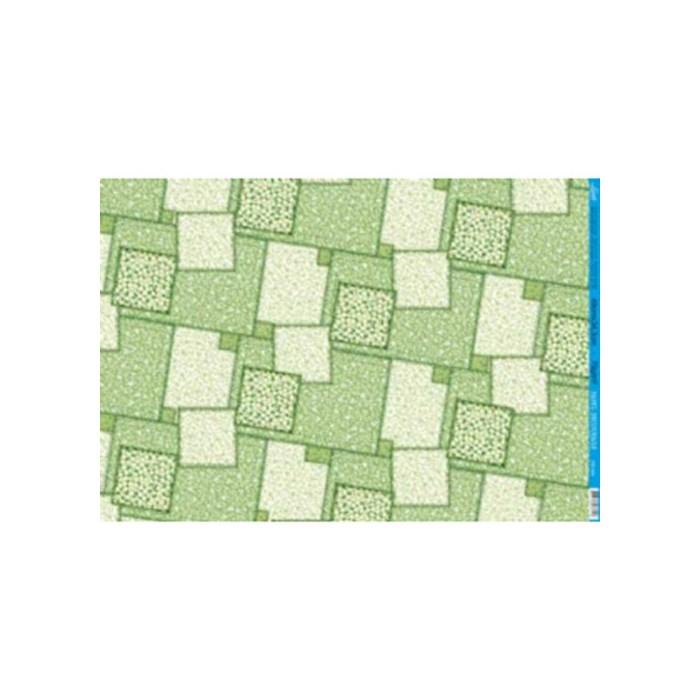 Papel para Decoupage Litoarte PD-434B Patchwork Verde