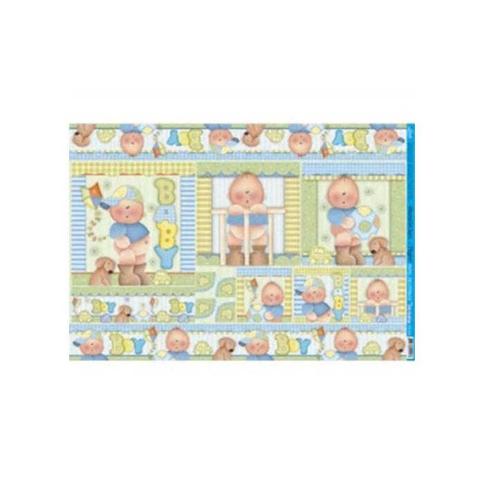 Papel para Decoupage Litoarte PD-533B Baby Boy
