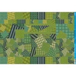 Papel para Decoupage Litoarte PD-589 Patchwork Verde