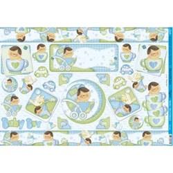 *Papel para Decoupage Litoarte PD-592 Baby Boy
