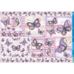 Papel para Decoupage Litoarte PD-696 Borboletas