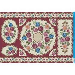 Papel para Decoupage Litoarte PD-729 Floral Vinho