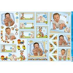 Papel para Decoupage Litoarte PD-751 Baby Boy